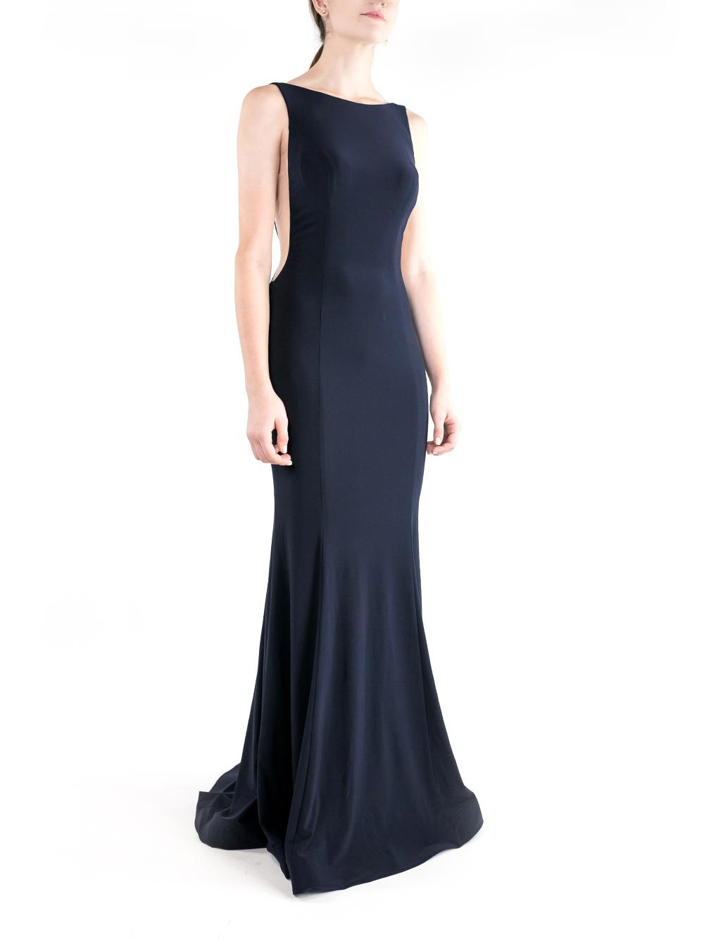 Clean Boatneck Open Side Gown