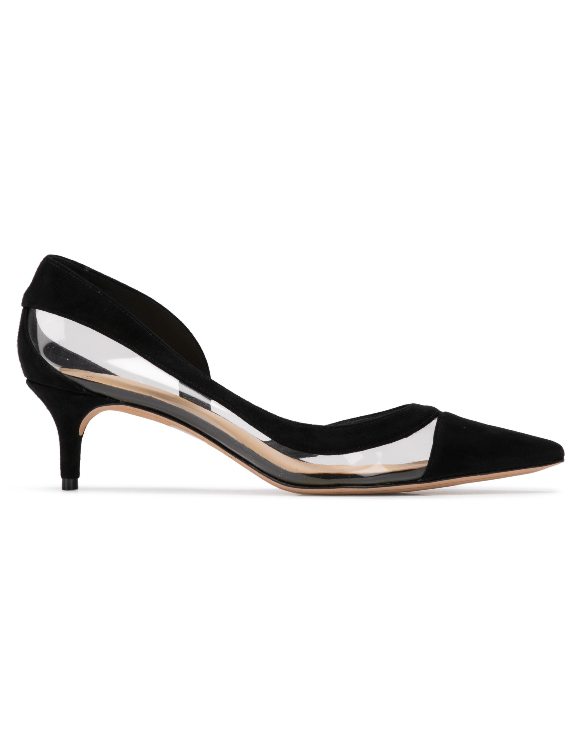 Wavee Pump 50mm Kitten Heel With Vinyl Sued