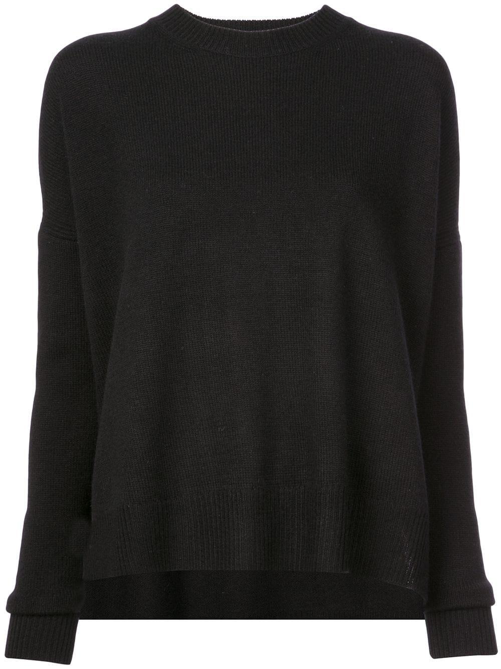 Mulholland Crewneck Silk Wool Sweater