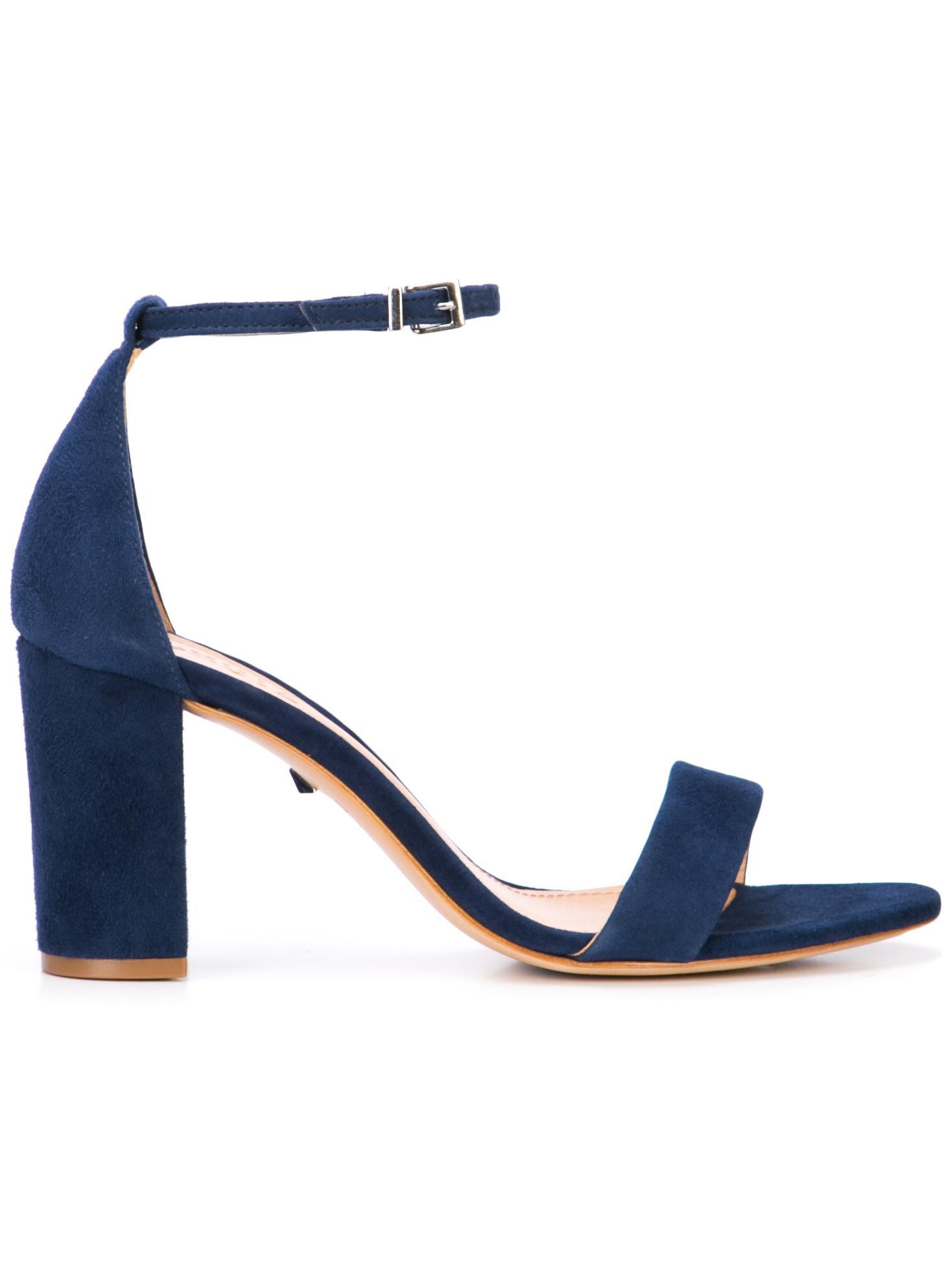 Suede Block Heel Sandal Item # ANNALEE-SUE