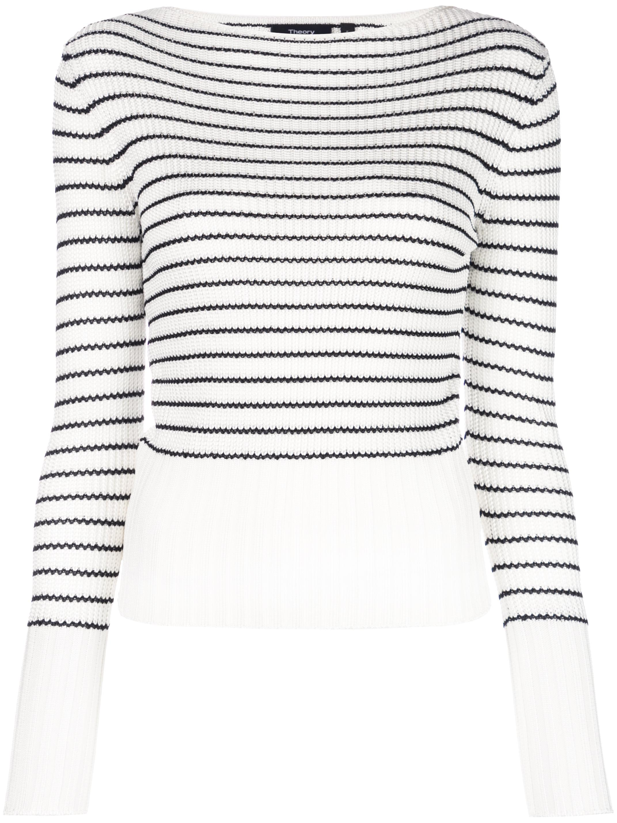 Striped Boatneck Long Sleeve Sweater
