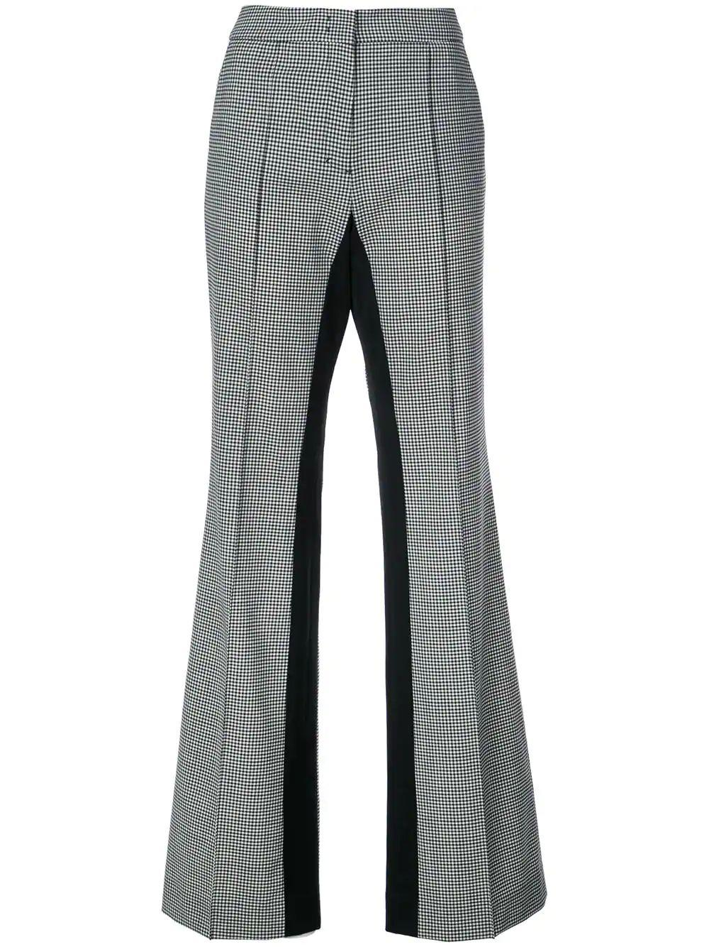 Minimal Vichy Loose Straight Leg Pant Item # 191-340803