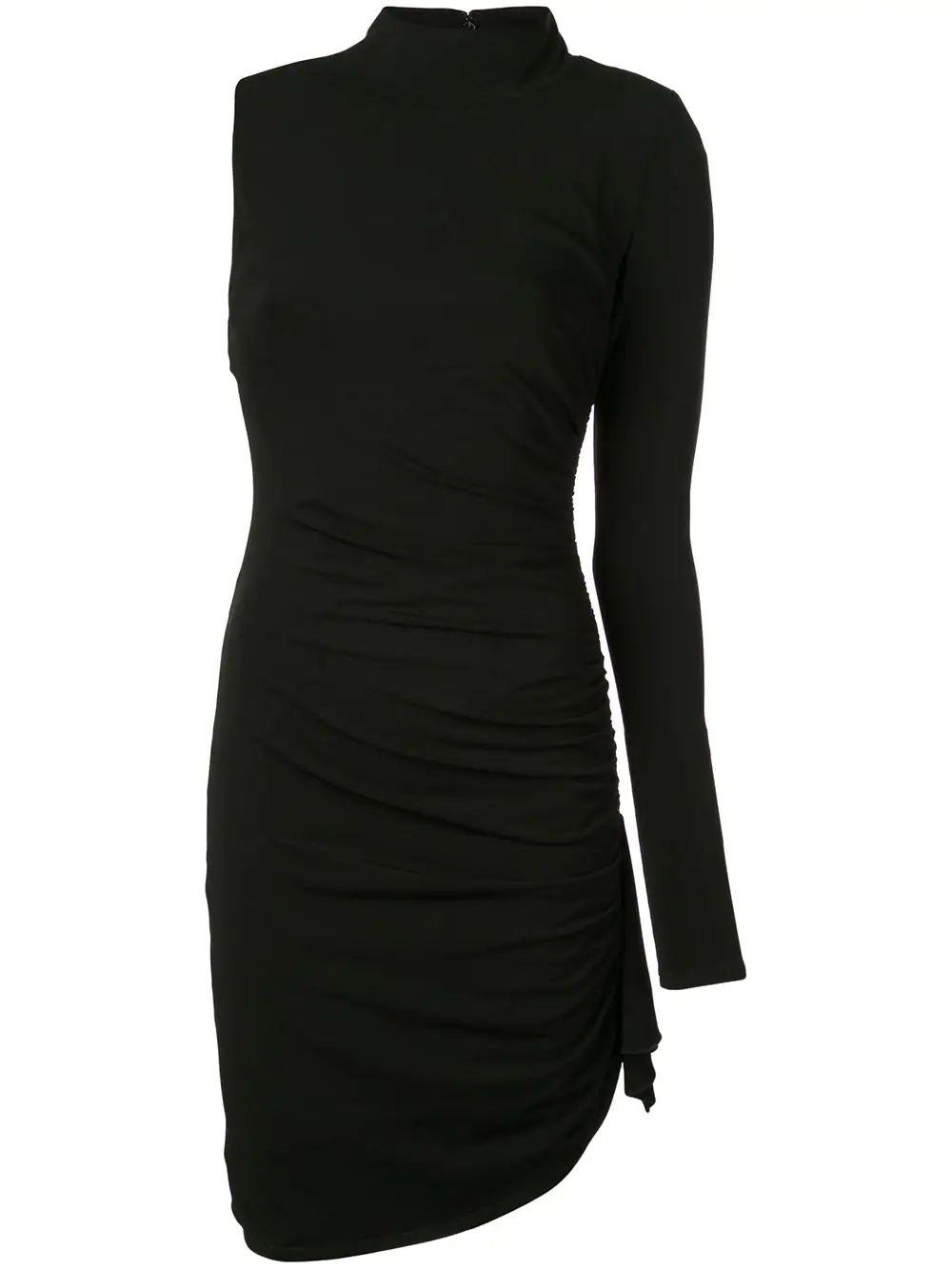 Augusta One Sleeve Ruched Short Dress Item # ZD8082290Z