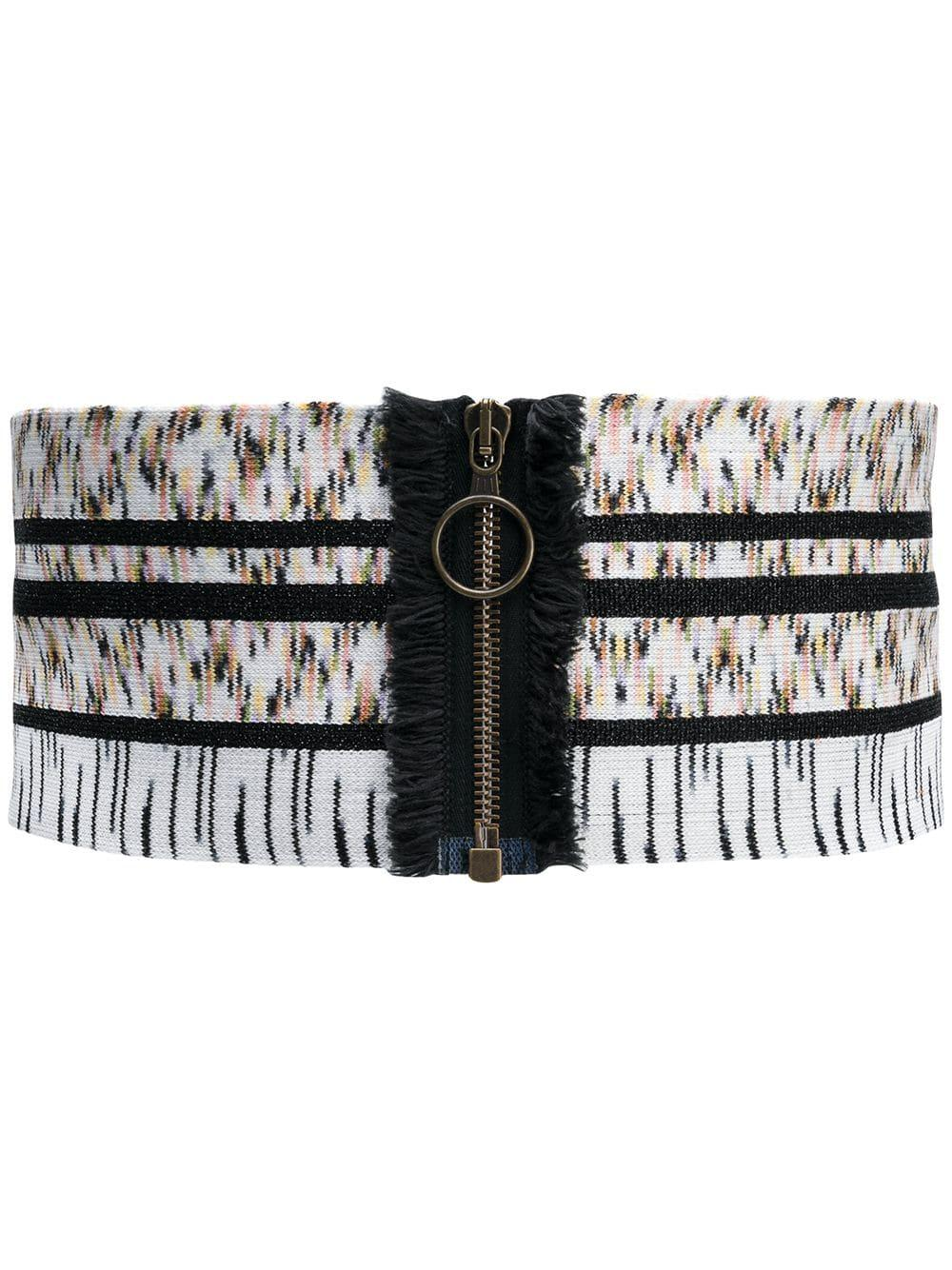 Elastic Zip Belt Item # MDS00141-BK000T