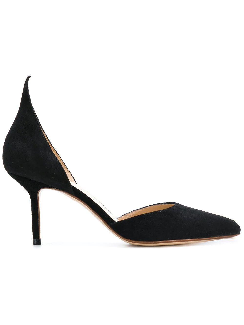 Point Toe Suede 75mm Dorsay With Point Back