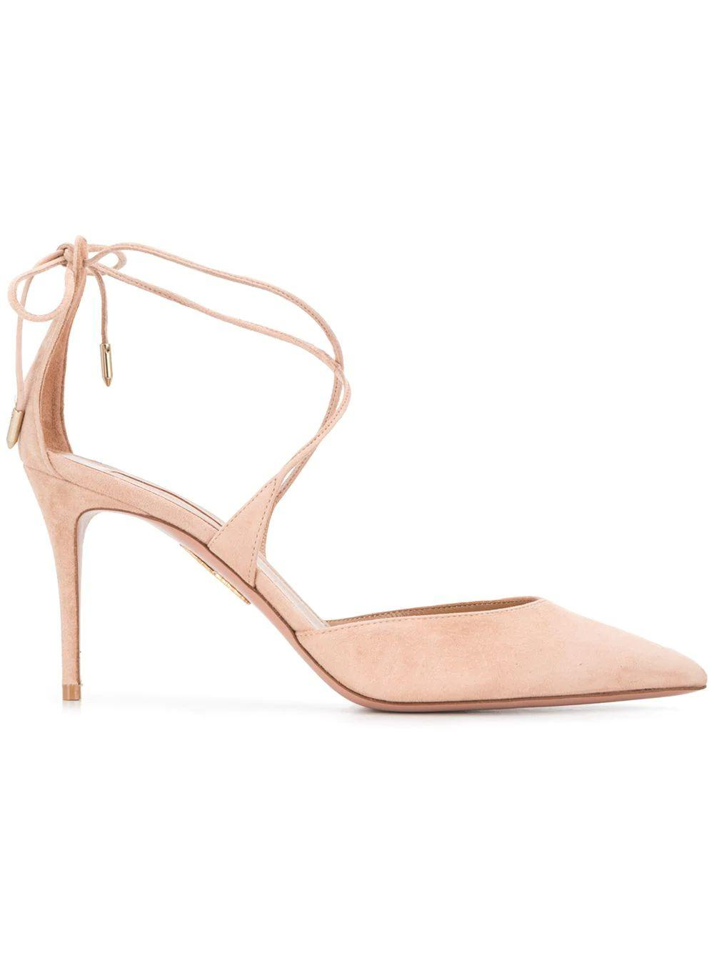 Very Matilde Suede 85mm Pump With Ankle Str
