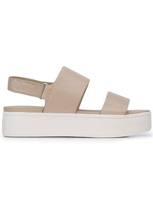 Leather Platform Sandal w/ Sling Back