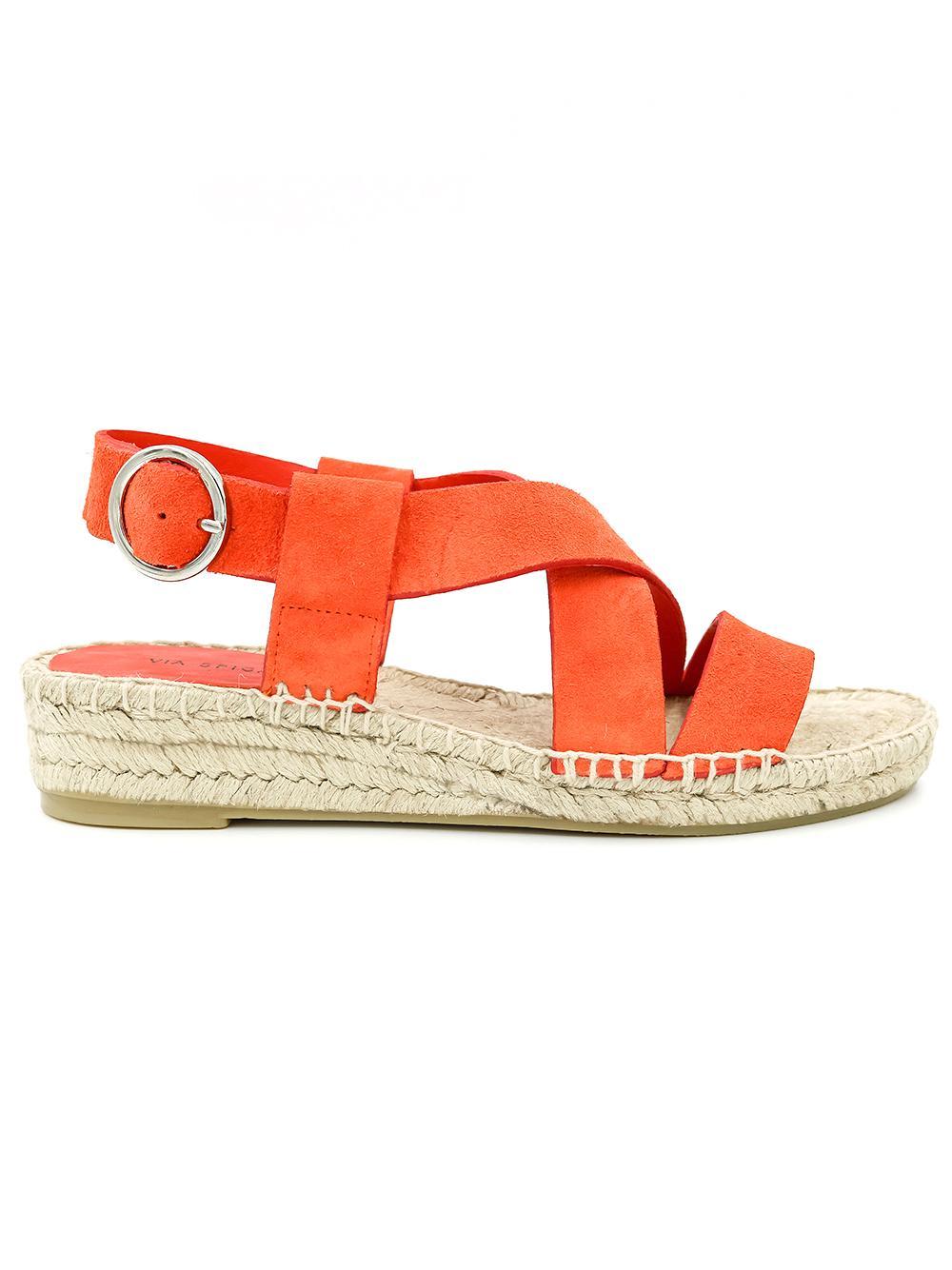 Suede Strappy Espadrille Sandal Item # V-GIA
