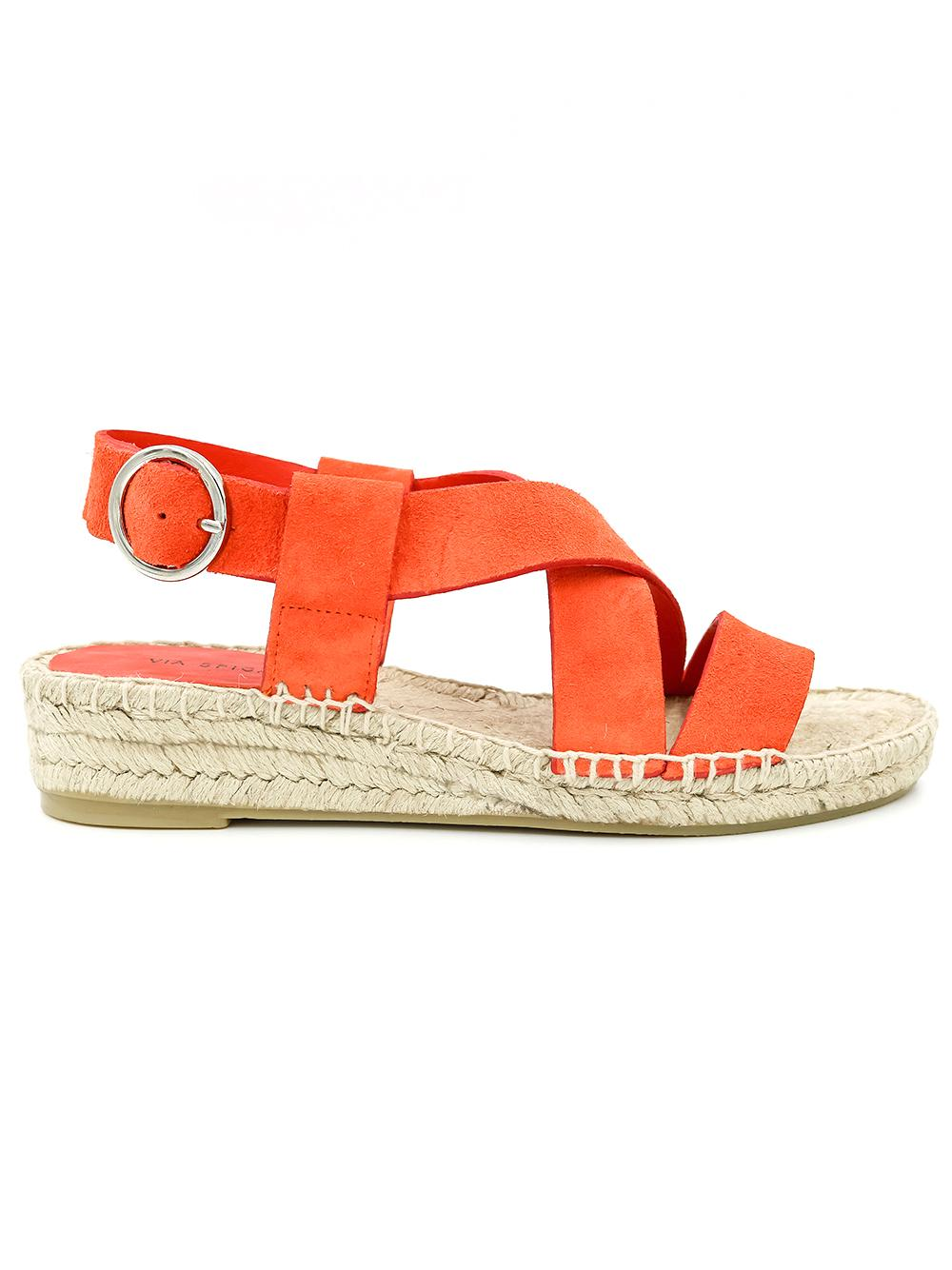Suede Strappy Espadrille Sandal