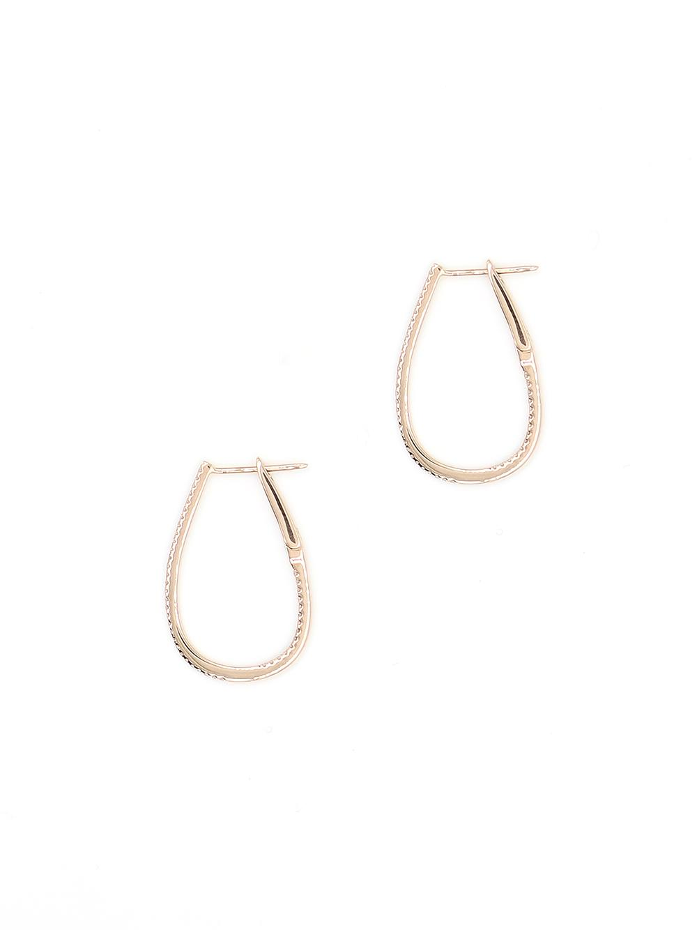 Medium Oblong 14K Hoops