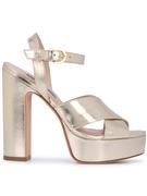 Crack Metallic Criss Cross Platform Hihl