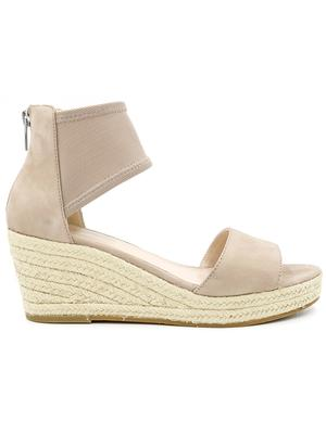 Espadrille Wedge With Mesh Strap