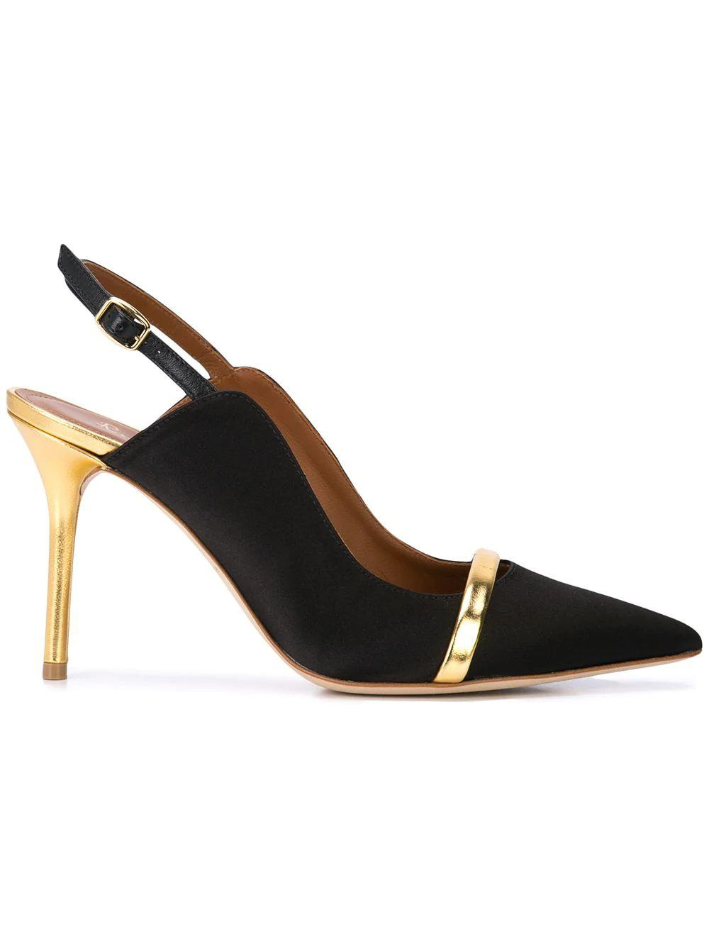 Satin/Mirror Nappa 85mm Slingback Item # MARION85-1