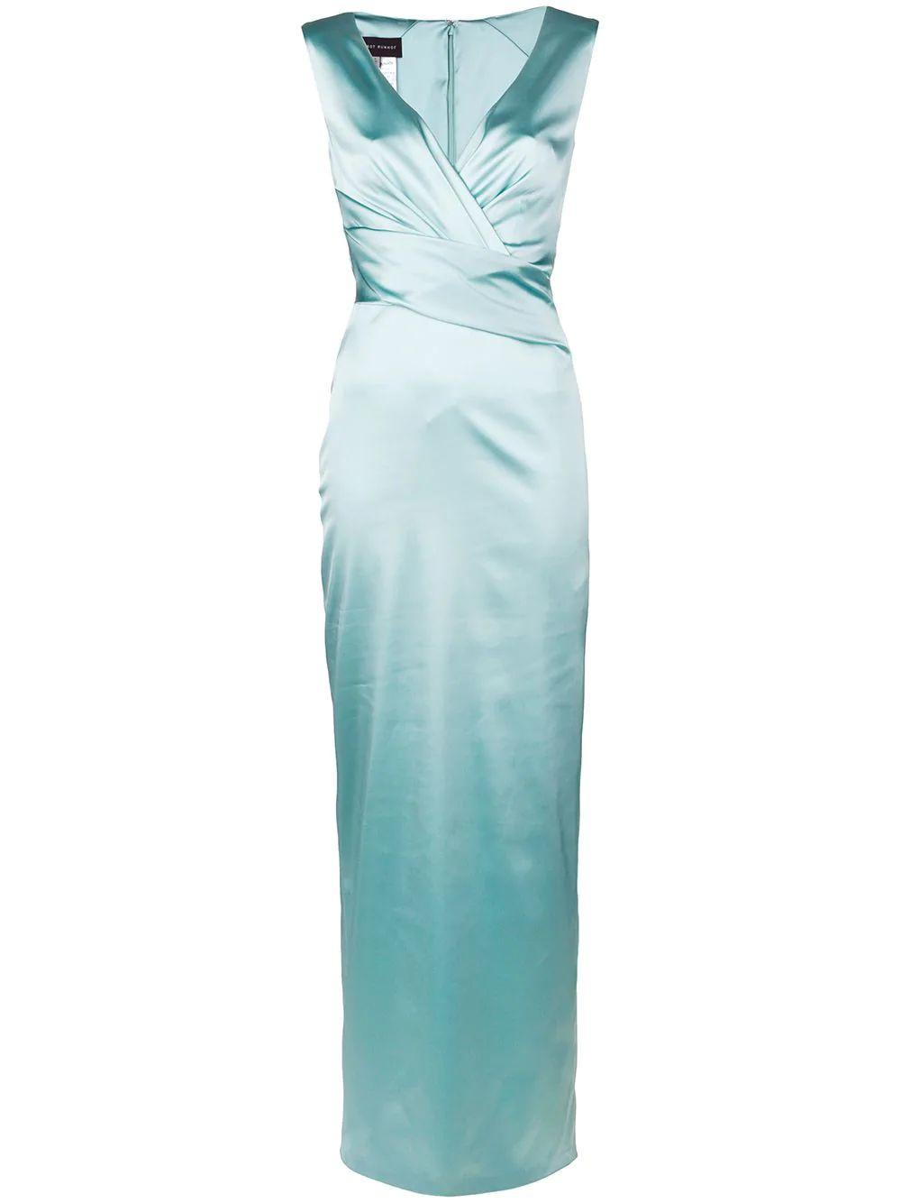 Sleeve Less Stretch Satin Duchesse Gown