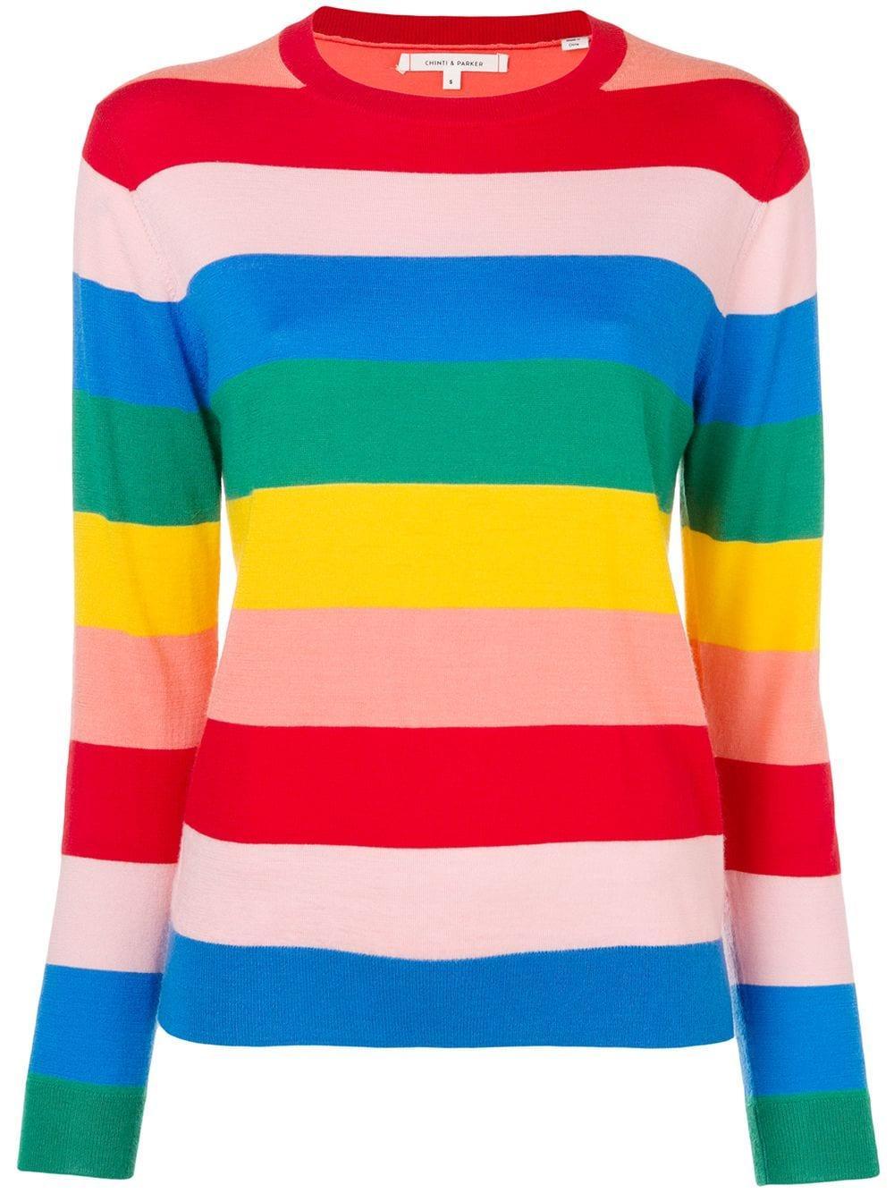 Day Dreamer Rainbow Striped Sweater
