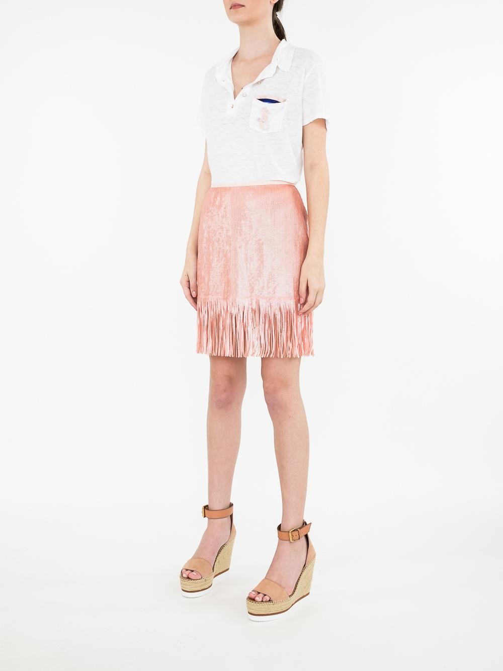 Speak Easier Shimmy Sequin Skirt Item # LS18-095