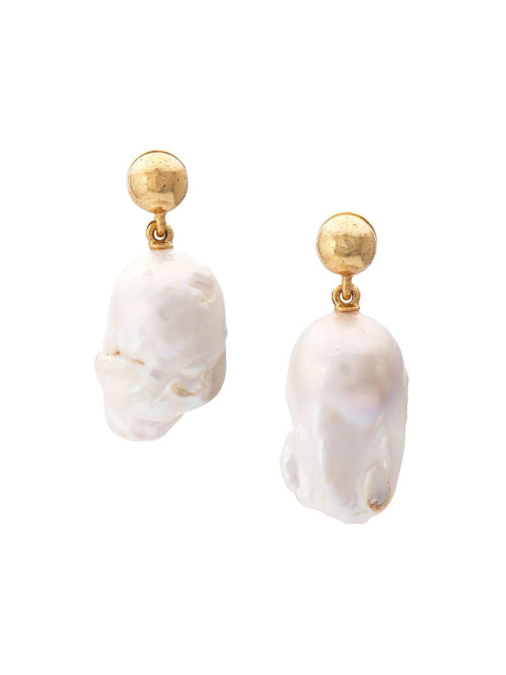 Baroque Pearl Earring Item # S19J107