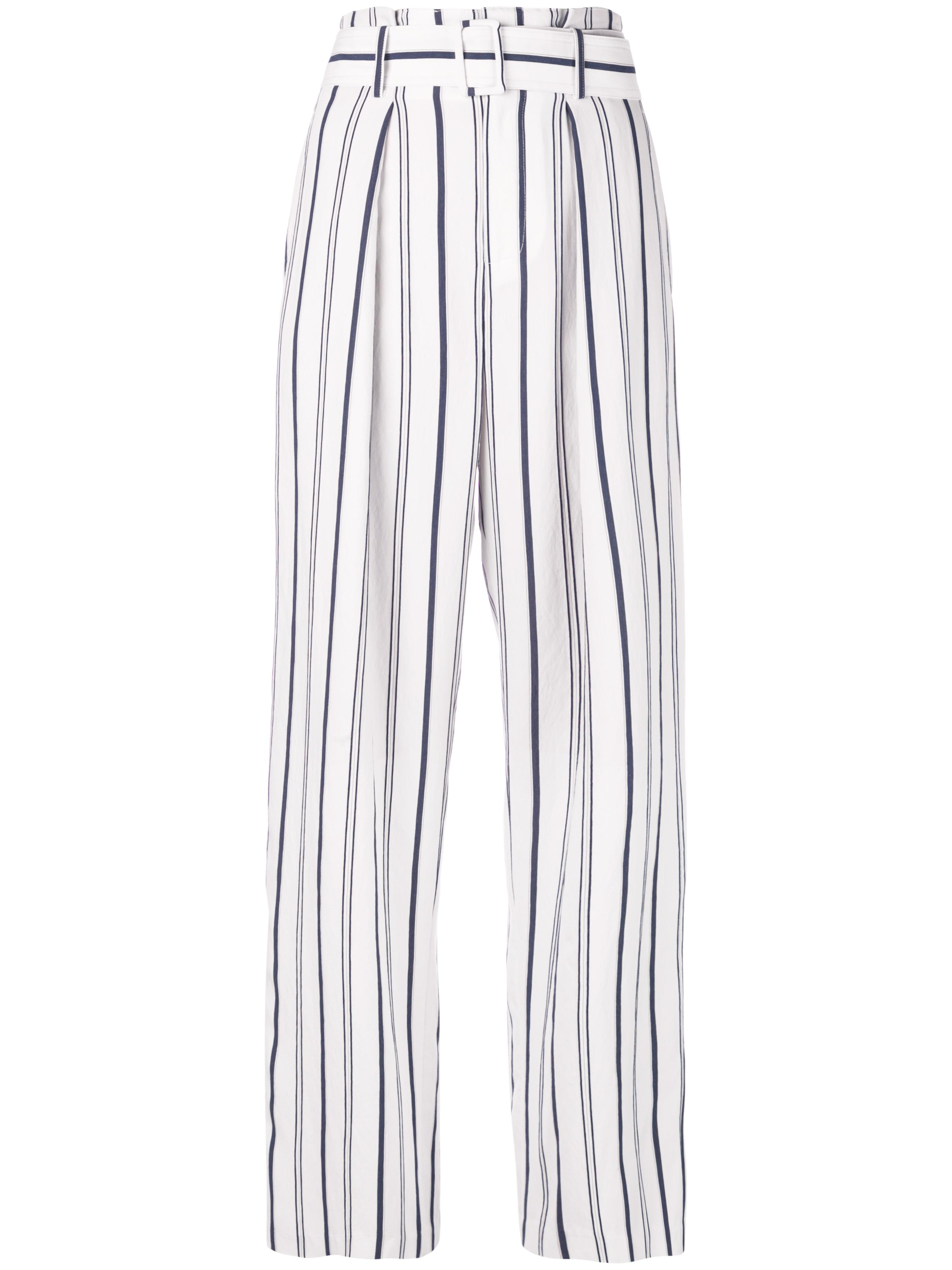 Dobby Stripe Belted Pant Item # V570121651
