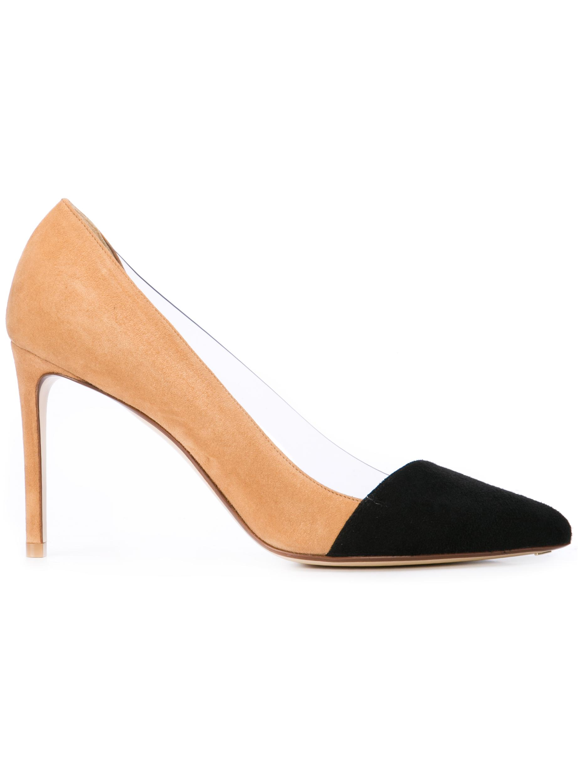 Bi Color Cap Toe 90mm Suede Pvc Pump Item # R1P531-286