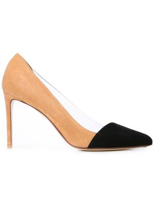 Bi Color Cap Toe 90mm Suede PVC Pump