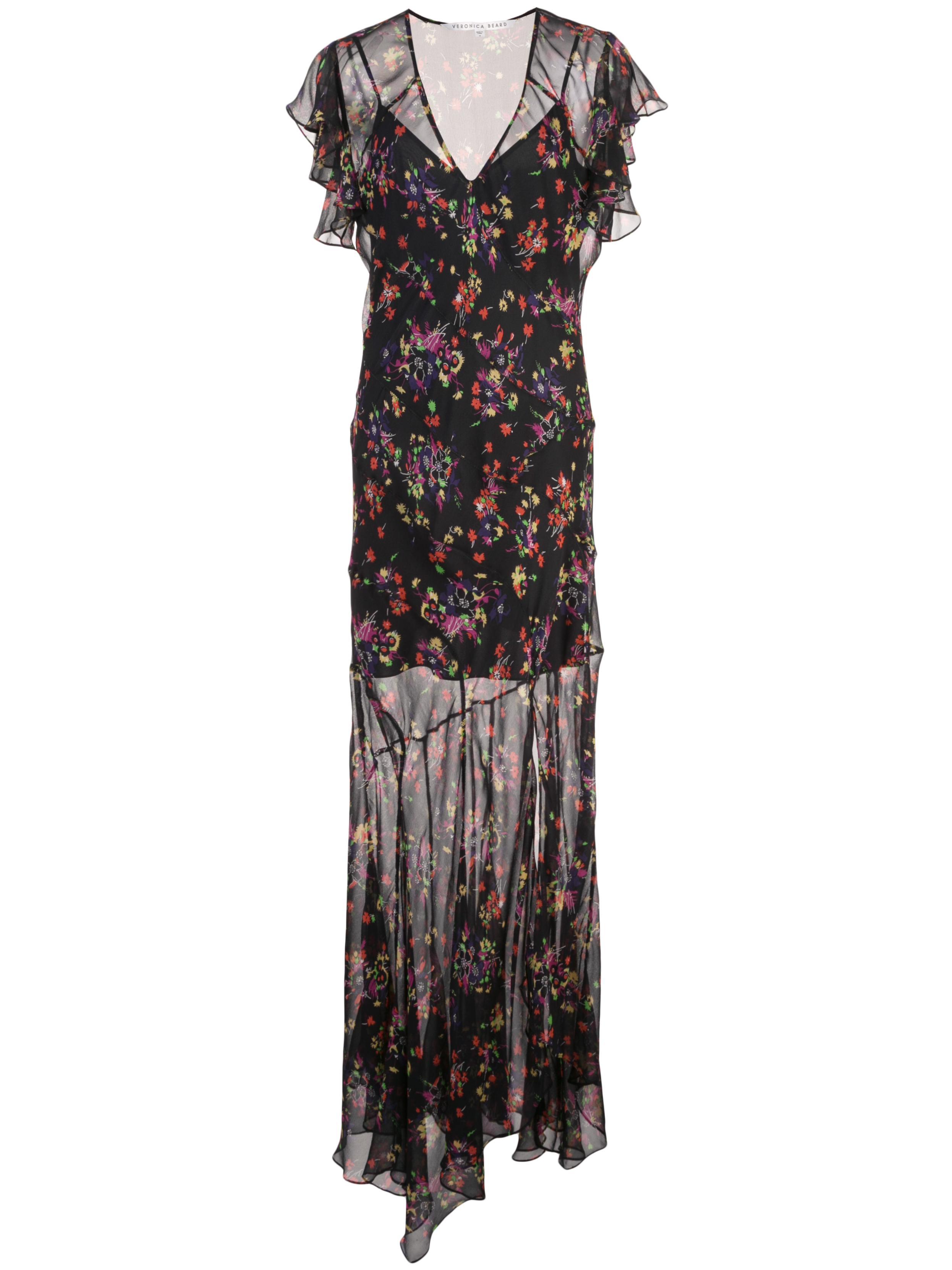 Kemper Flutter Sleeve Maxi Dress With Slit