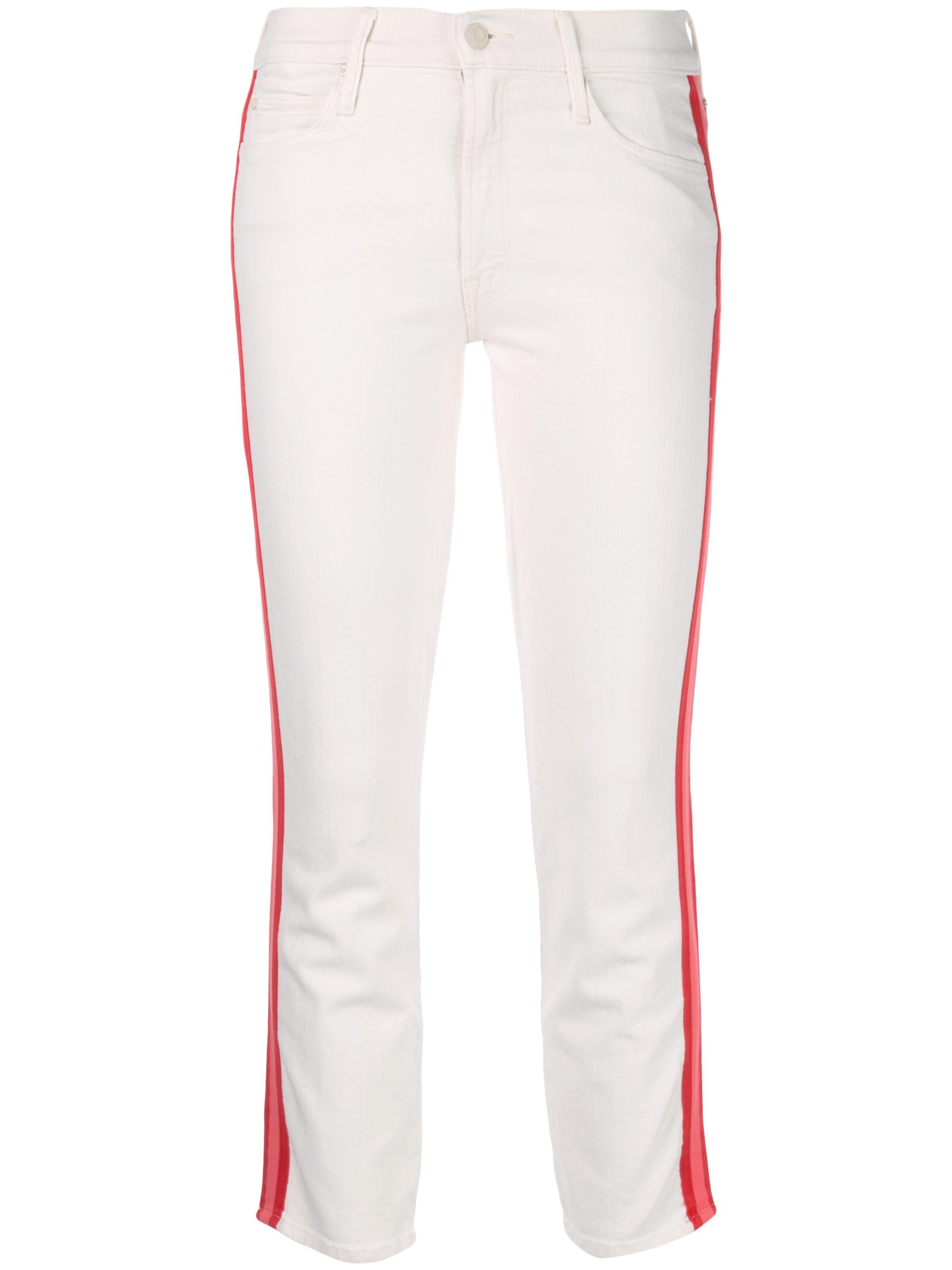Mid Rise Dazzler Crop Pink Racer Stripe