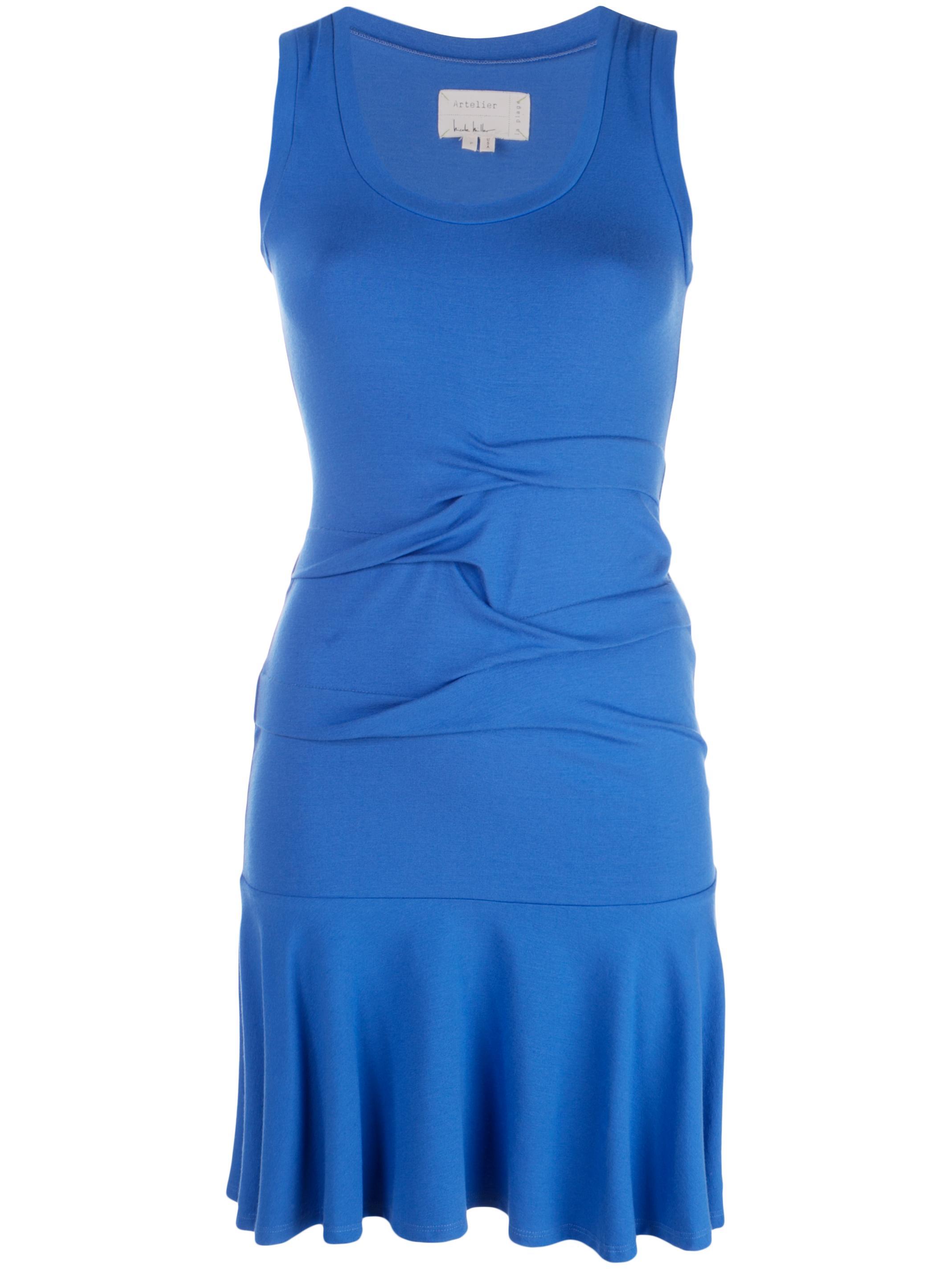 Jersey Tidal Pleat Flare Dress
