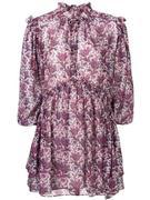 Long Sleeve Printed Georgette Dress