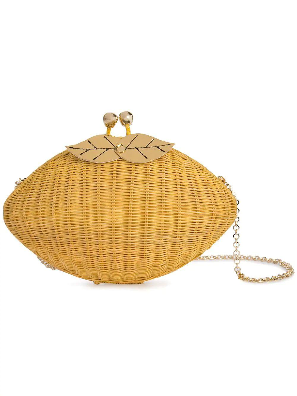 Sicilian Lemon Wicker Clutch