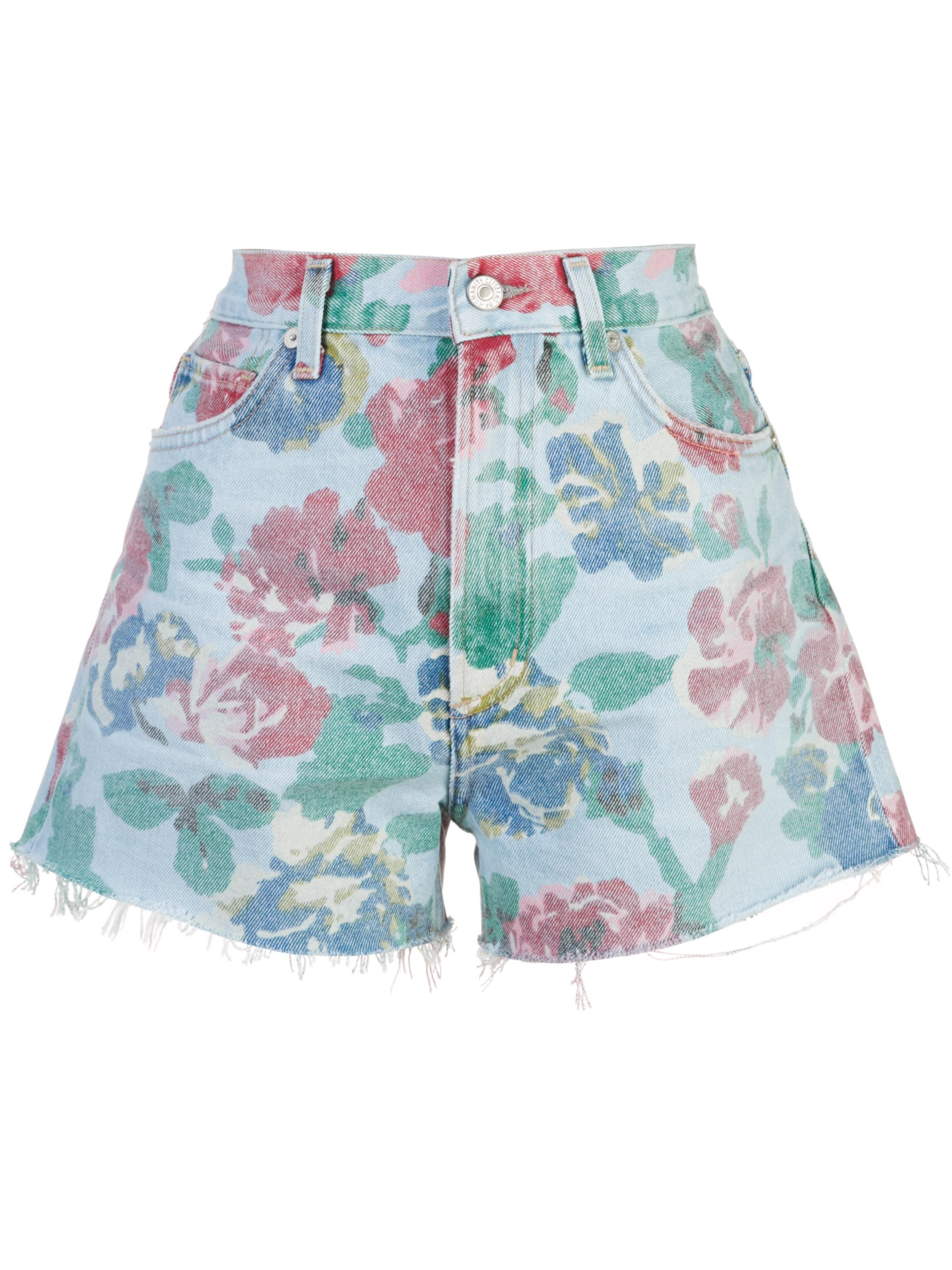 Kristen High Rise Floral Cut Off Short