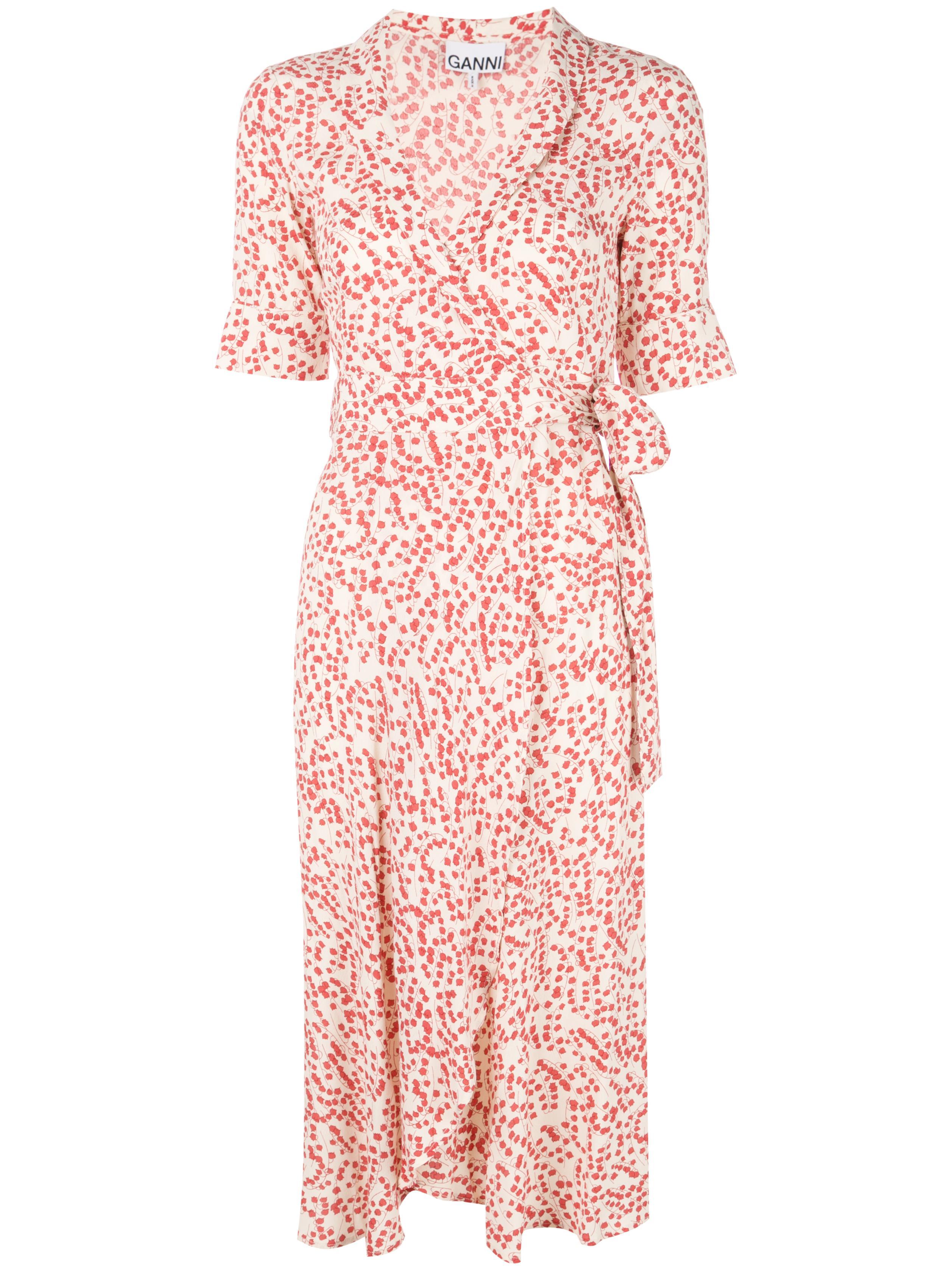 Goldstone Crepe Printed Shirt Dress Item # F3335