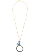 Trillium Hoop Pendant Necklace