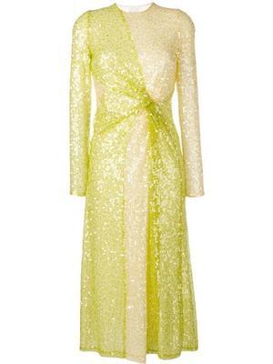 Pailette Pinwheel Dress