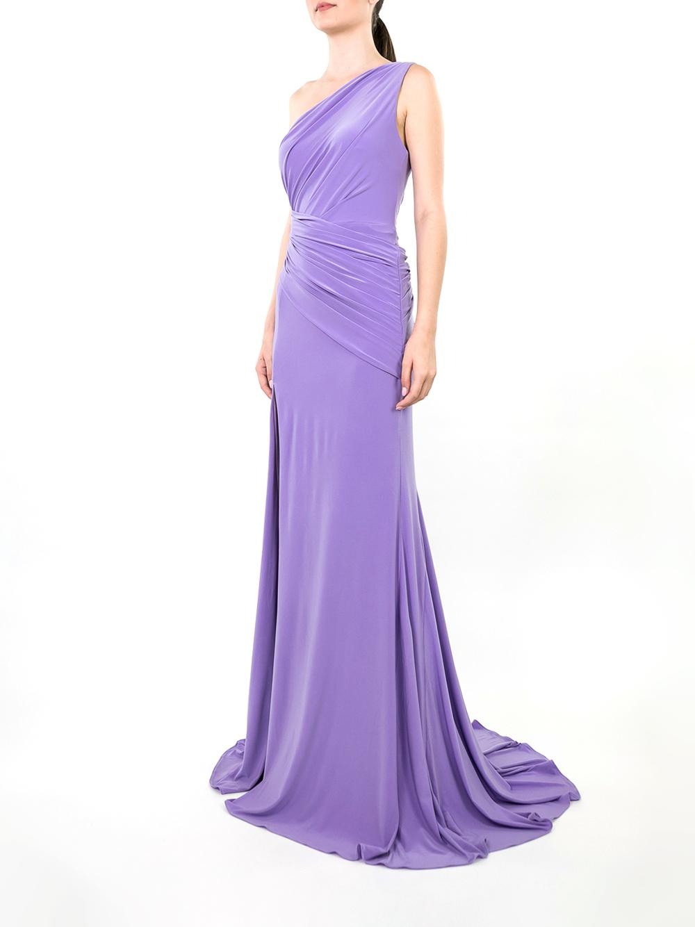 One Shoulder Rouched Gown