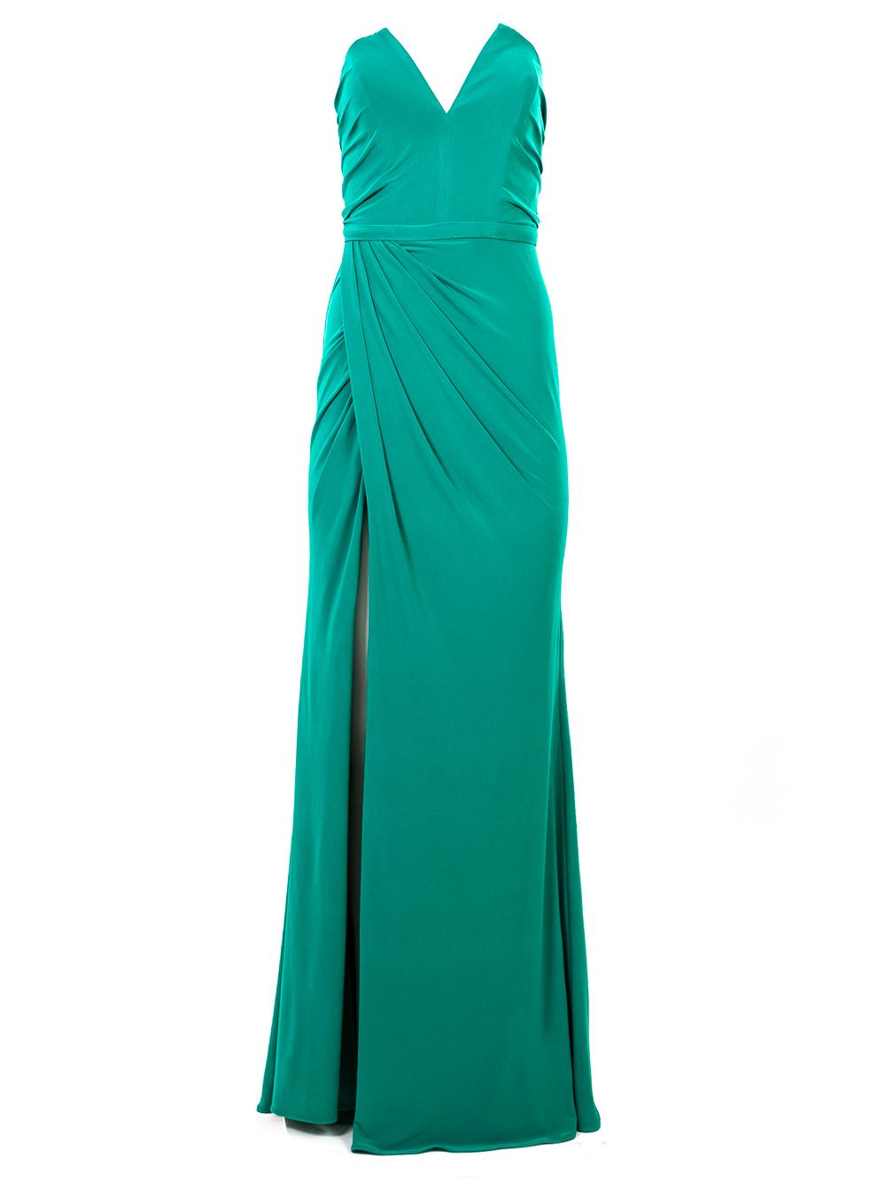 Starpless Front Slit Gown