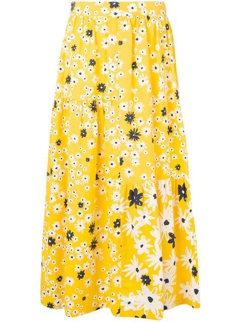 Selina Meadow Flower Print Maxi Skirt Item # SN02