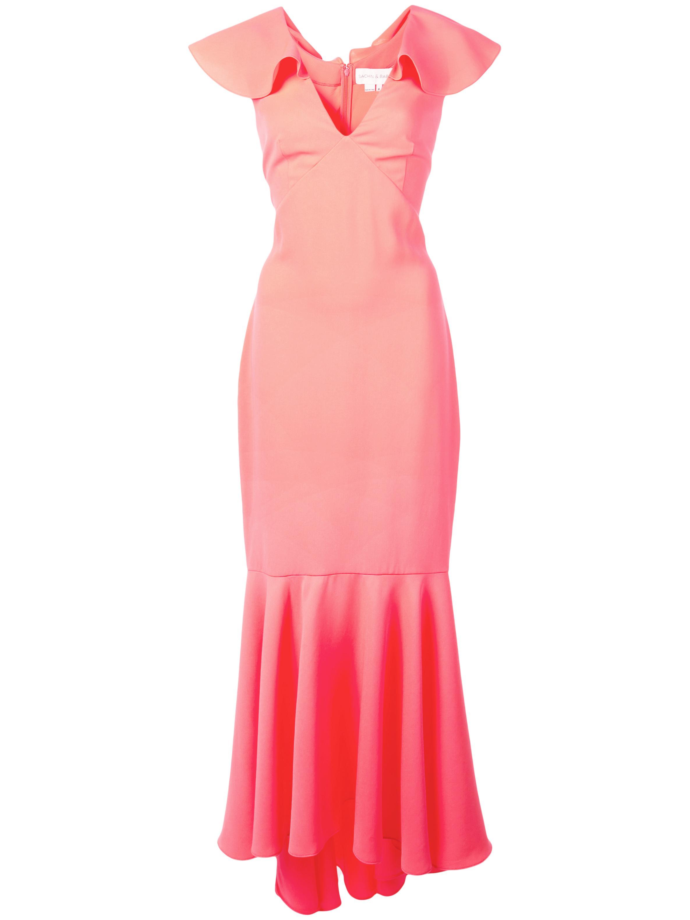 Mason Ruffle Sleeve Gown Item # S19G23