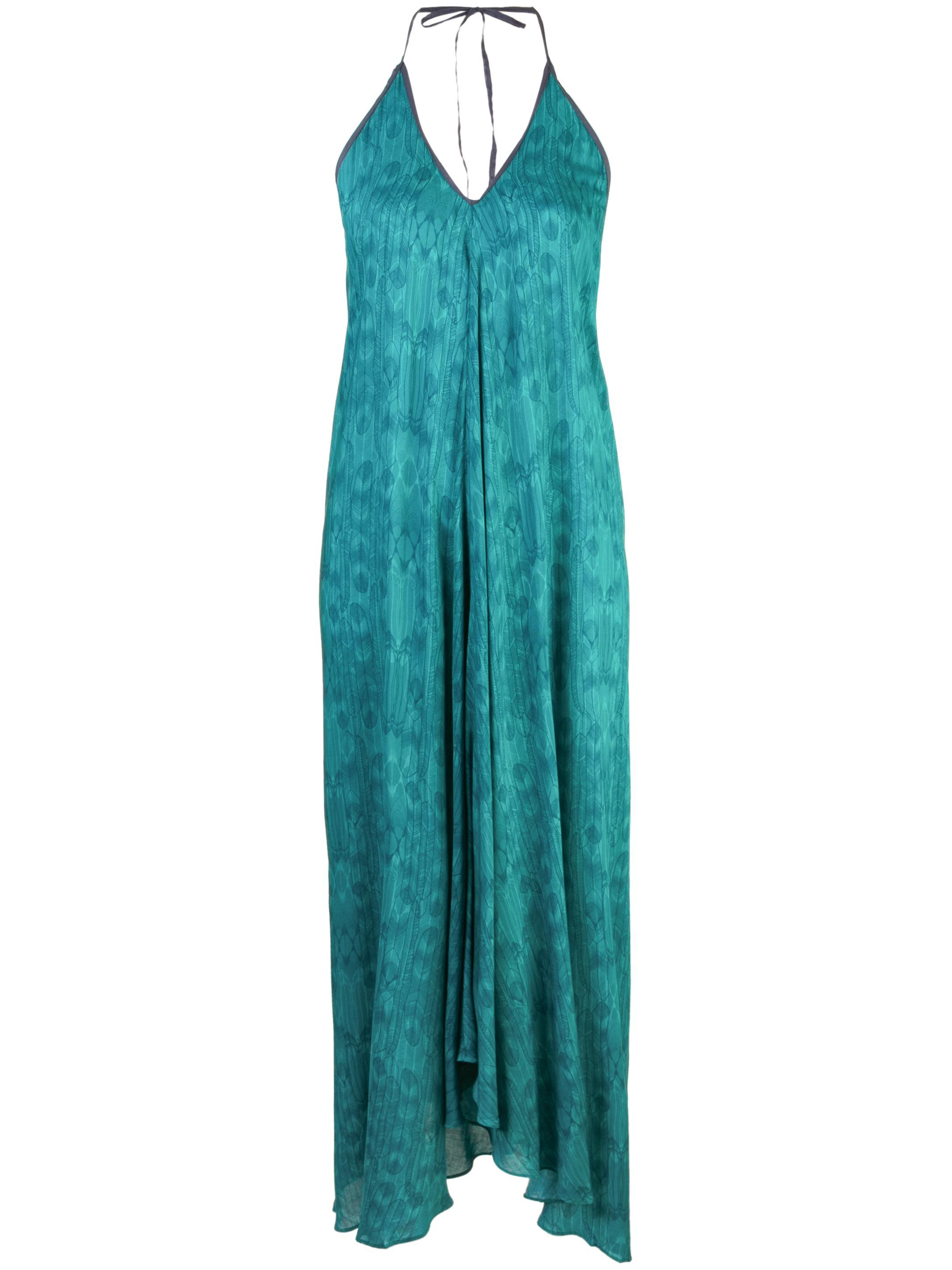 Halter Balinese Feather Dress Item # HA02BAF303