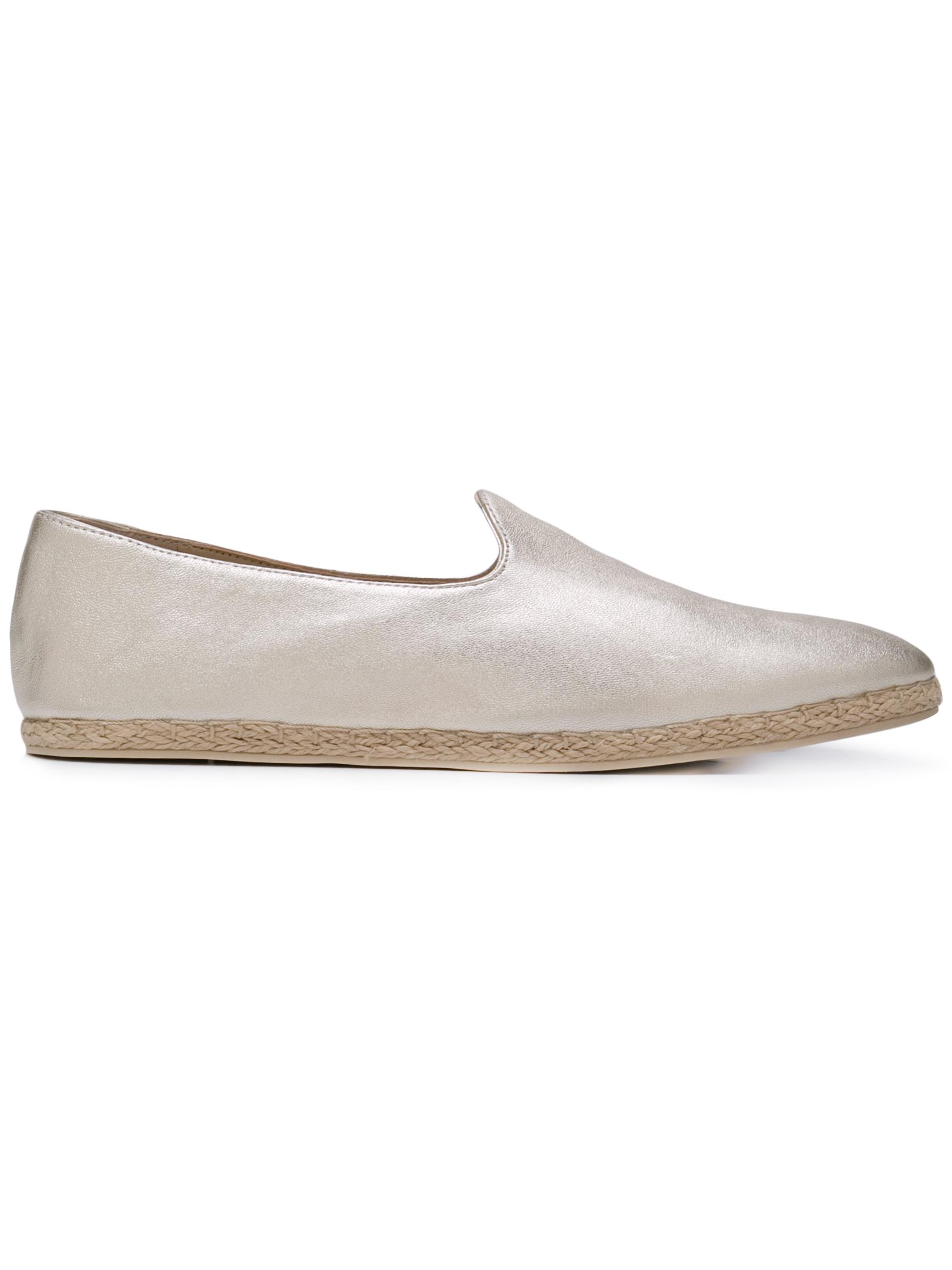 Metallic Leather Espadrille Loafer
