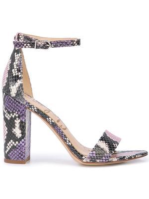 Snake Print Leather Hi Hl w/ Ankle Strap