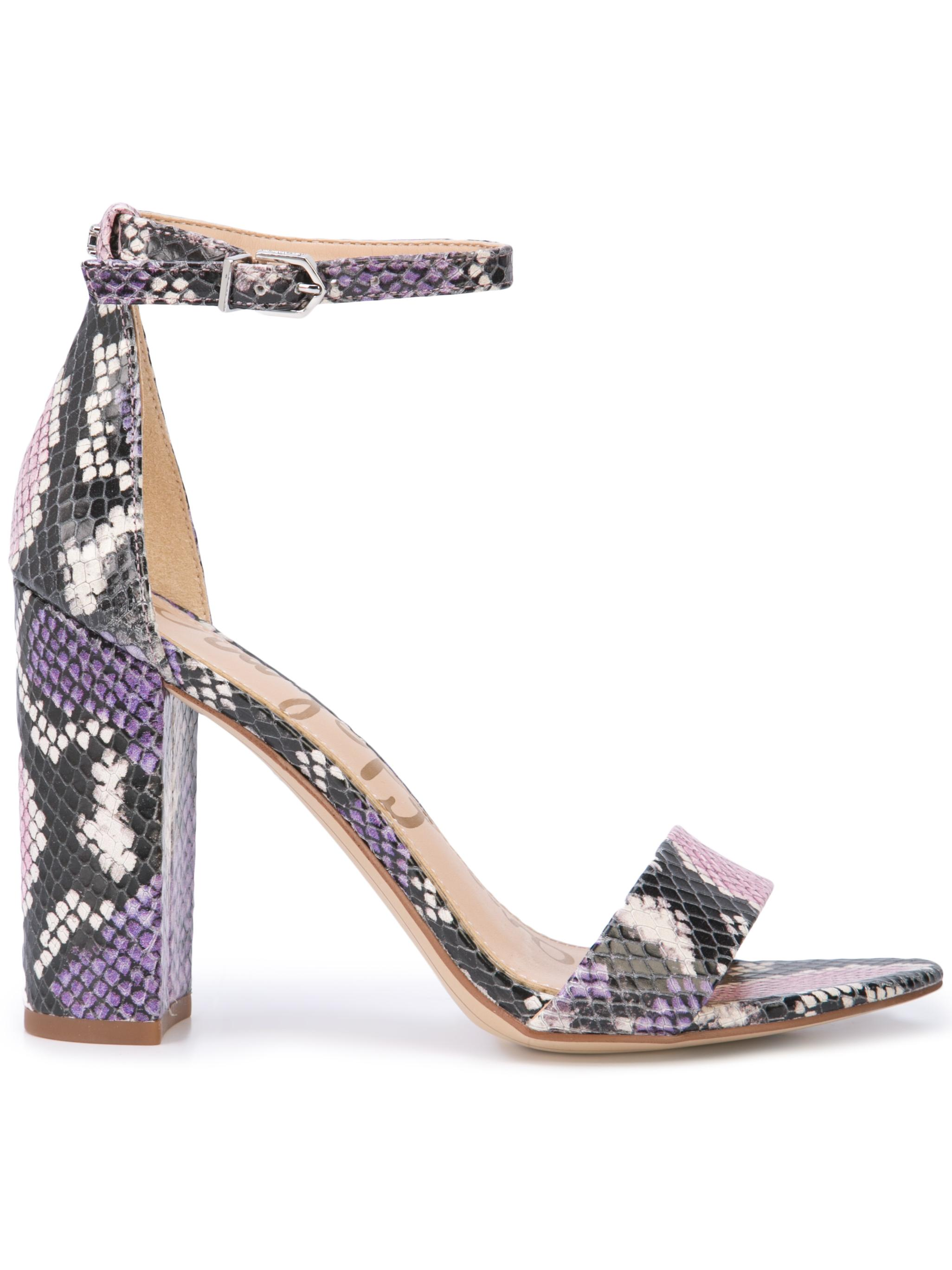 Snake Print Leather Hi Hl w/ Ankle Strap