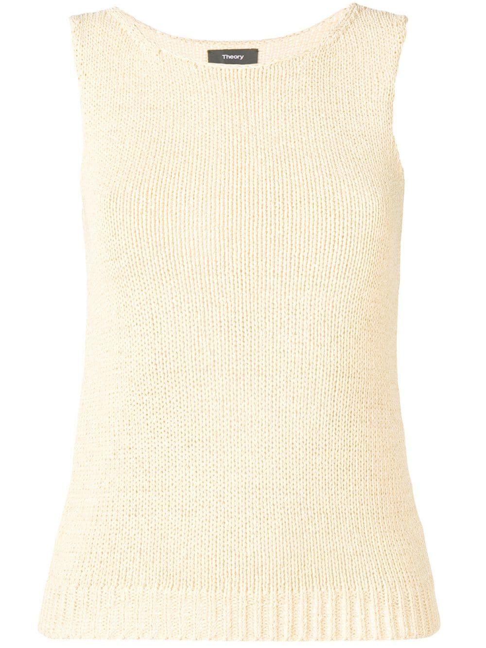 Sleeveless Knit Shell Sweater Item # J0214706