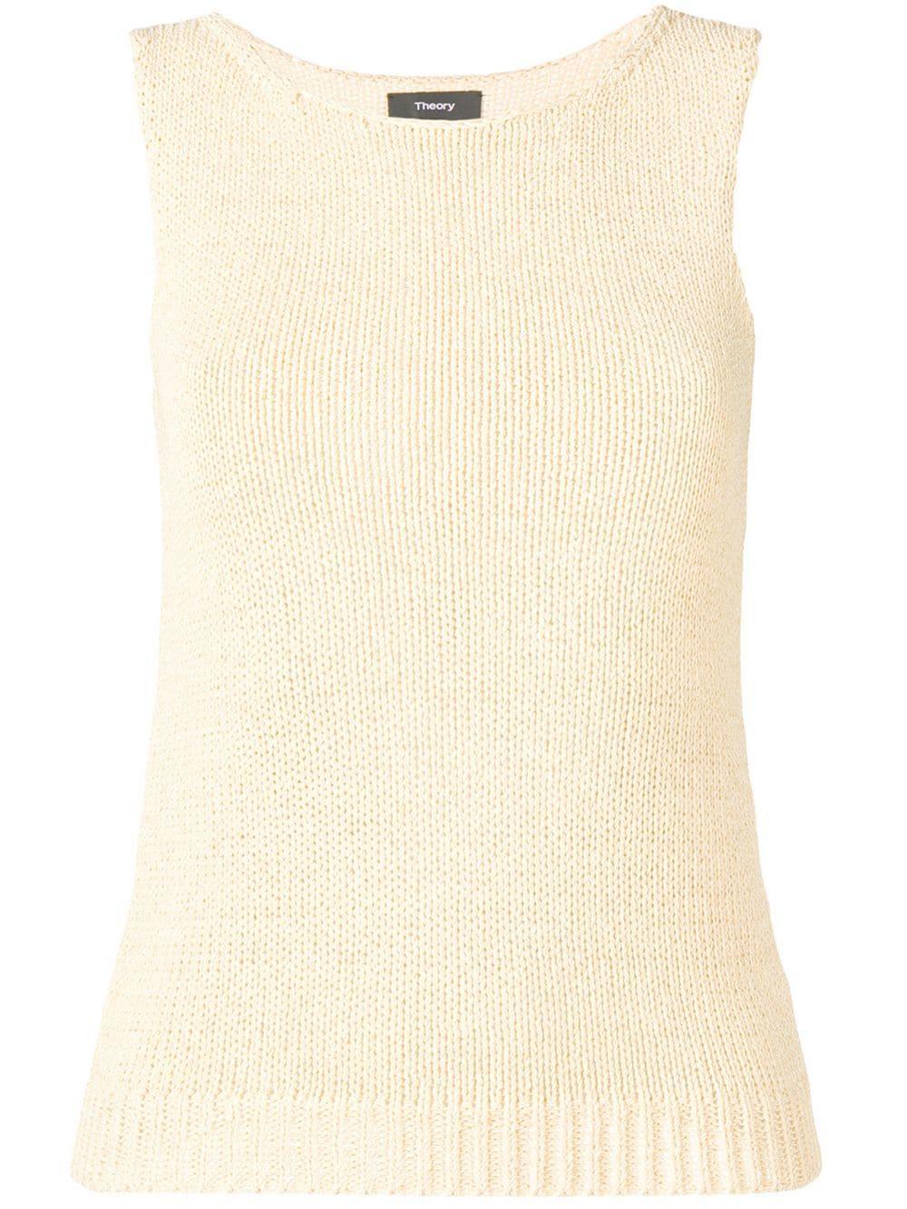 Sleeveless Knit Shell Sweater