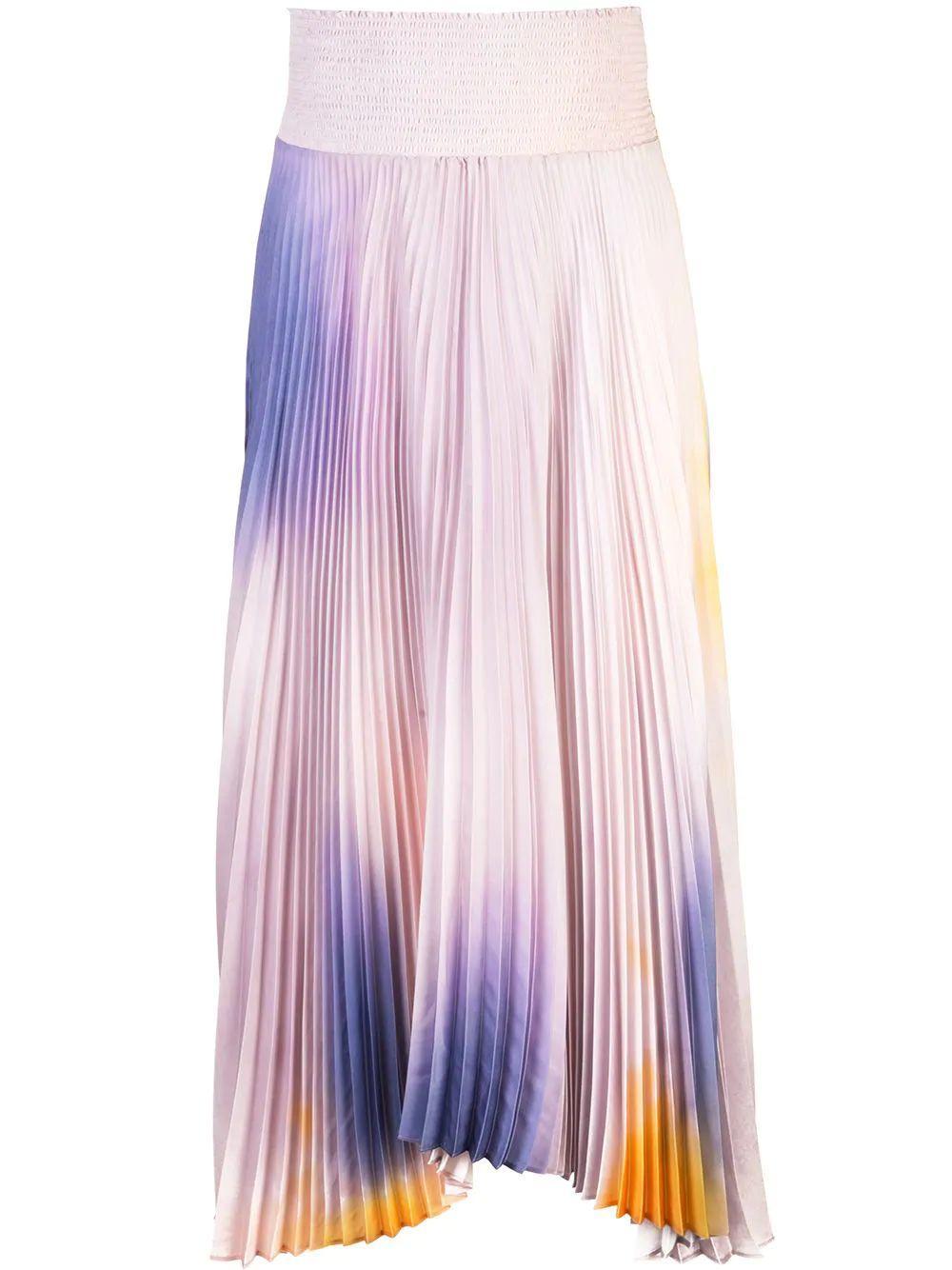 Sonali Tie Dye Pleated Midi Skirt Item # 3SKRT00158