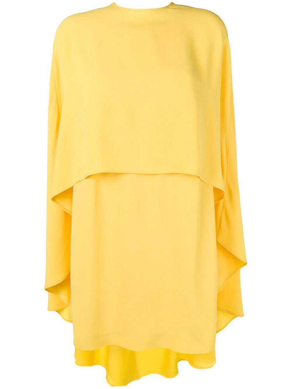 Halter Neck Dress W/Cape Item # SB5024-317