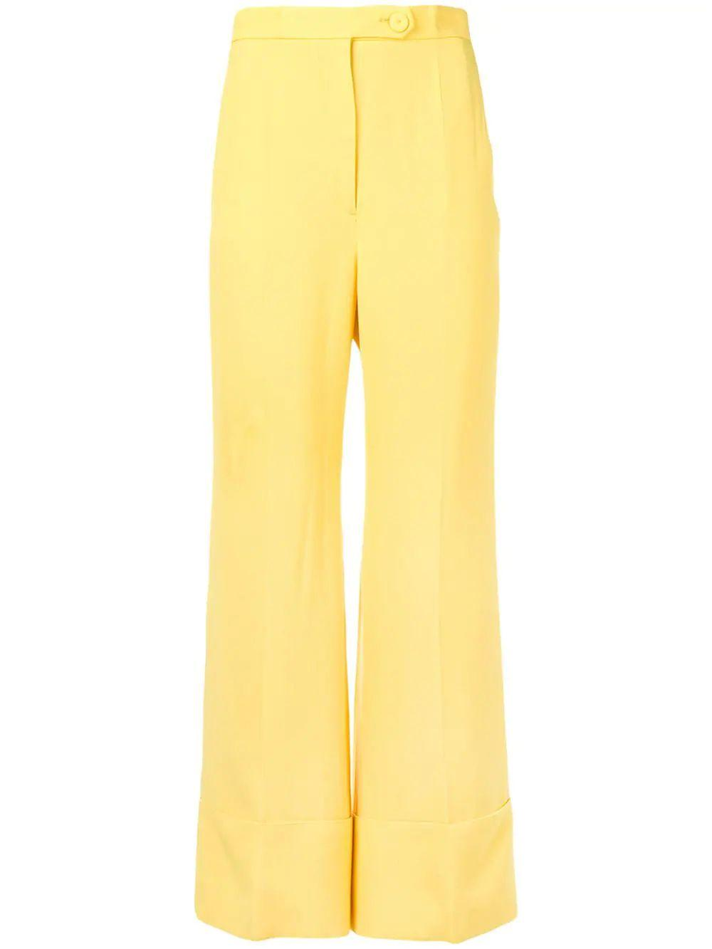 Cuffed High Waist Trouser