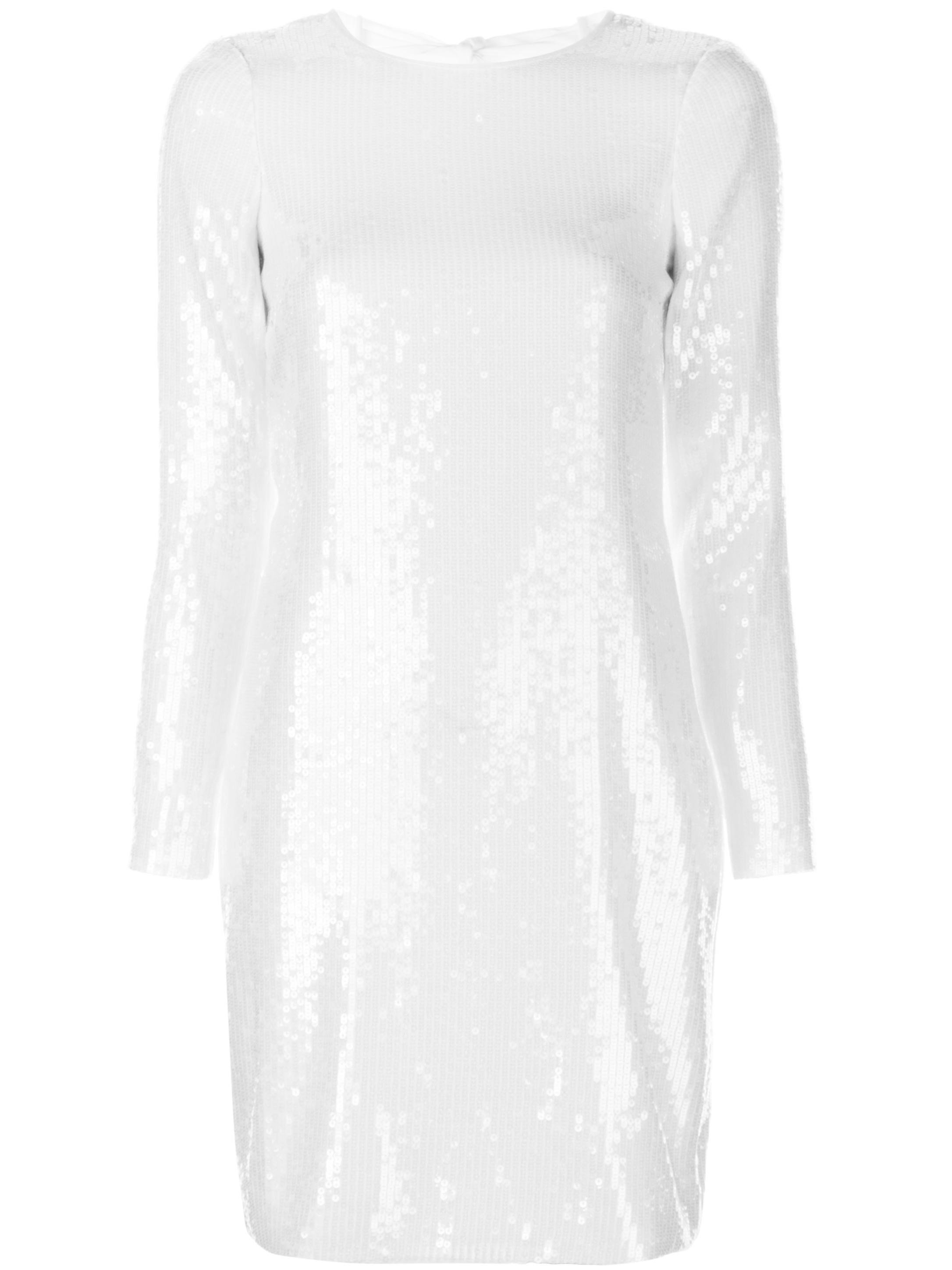 Sequin Long Sleeve Tie Back Mini Dress Item # LW130