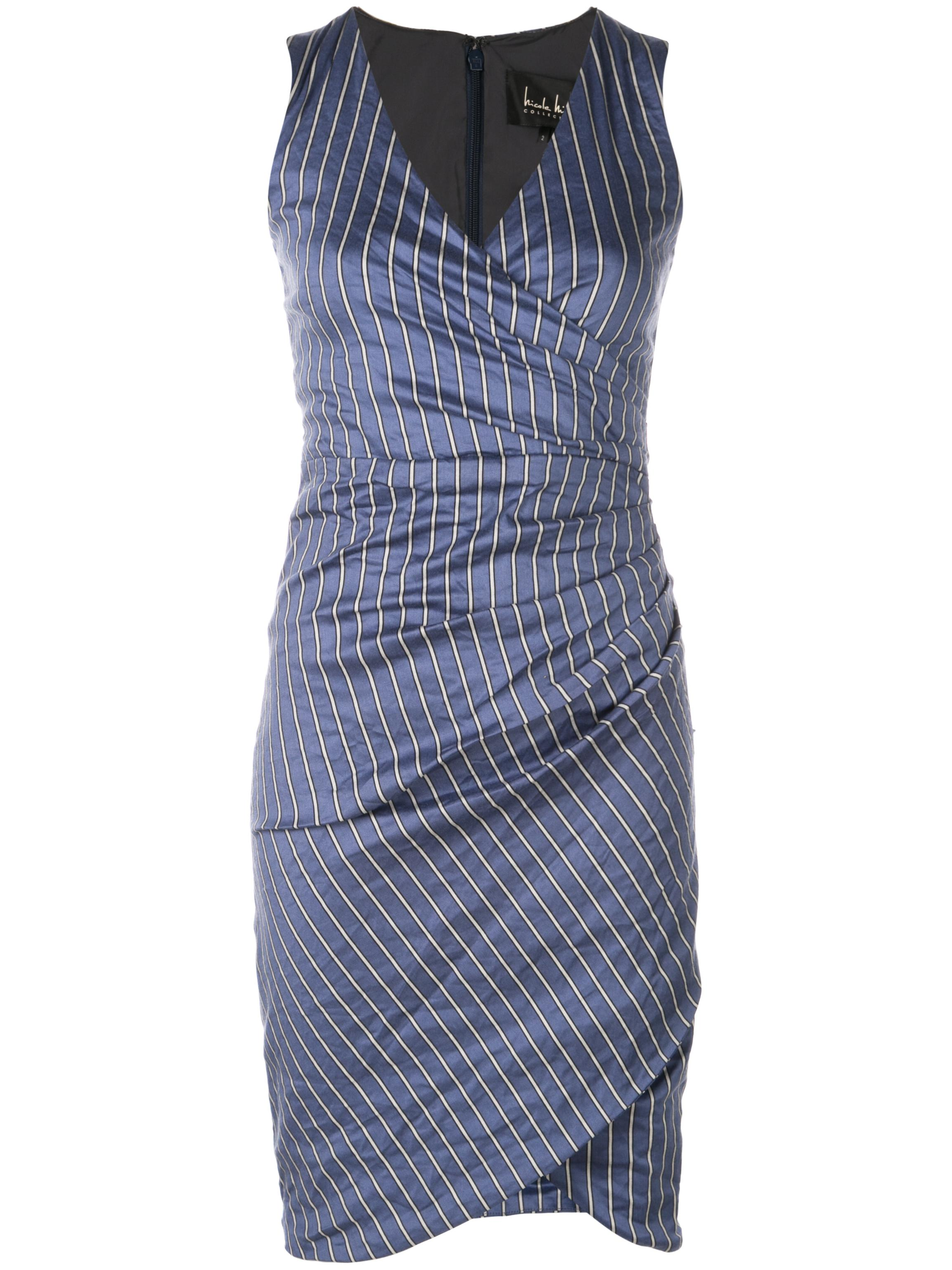 STRIPED COTTON METAL STEFANI DRESS