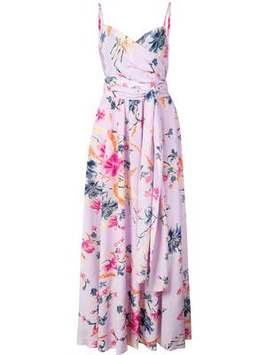 AZALEA VNECK PRINTED MAXI DRESS