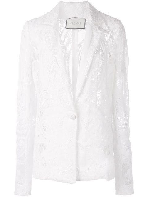 Lace Sheer Suit Blazer